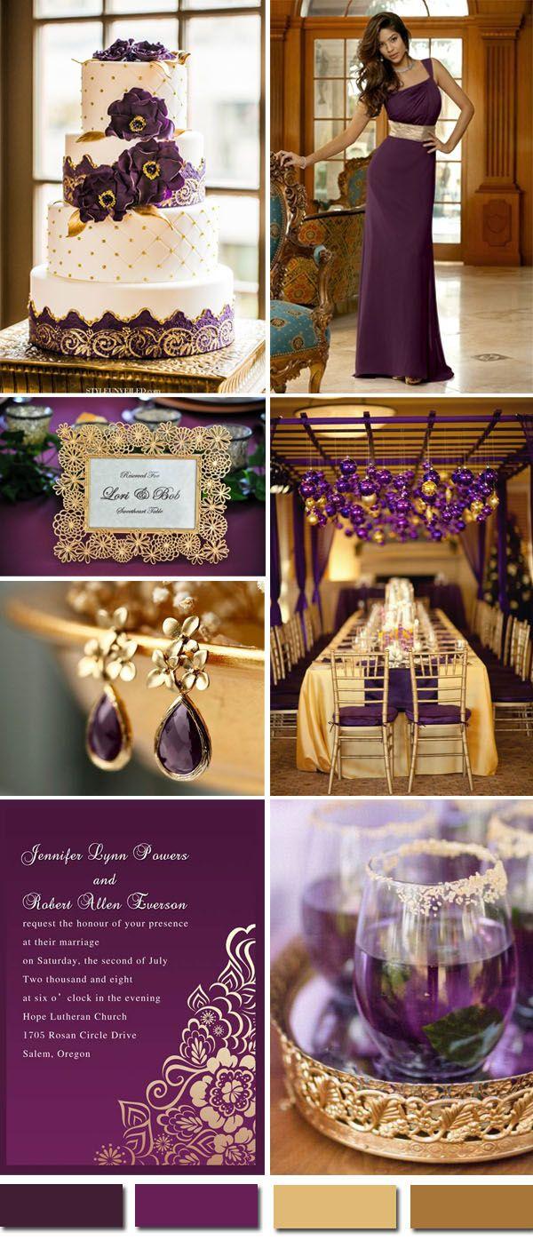 purple gold weddings purple and gold wedding vintage purple and gold wedding color ideas