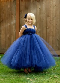 Navy Blue Flower Girl Tutu Dress - NB thru 18months ...