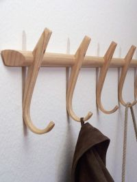 Wooden coat hooks, steambent, hook rack, ash, made in ...