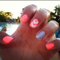 Really pretty nail design, but maybe with classier colors ...