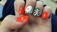 Miami hurricanes nails | Nails--designs I've used ...
