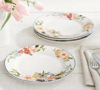 Easter tabletop ideas: Floral rim dinner plate   easter ...