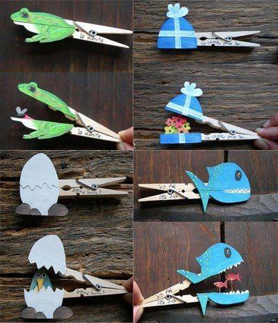 Kleuters knutselen met wasknijpers kleuters knutselen