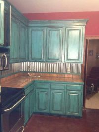 Teal kitchen cabinets | Home | Pinterest | Teal kitchen ...