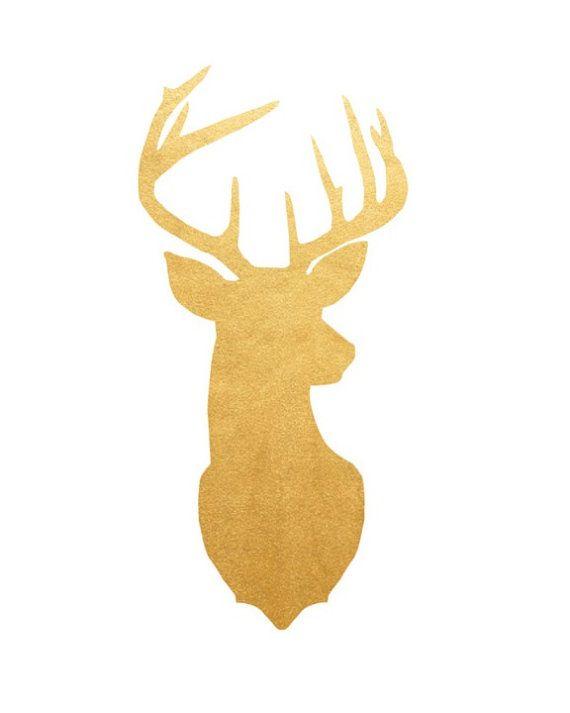 Stag Head Print, Deer Wall Art, Deer head, Printable Wall
