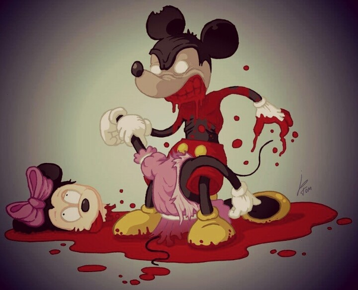 Cute Little Girl Cartoon Wallpaper Mickey Mouse Playhouse Of Murder Guns Tats And All