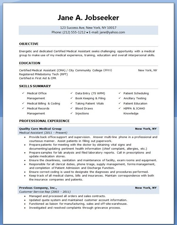 How To Write A Resume For A Phlebotomy Job Phlebotomist Resume Sample Cover Letter And Resume Samples Medical Assistant Resume I Like This Pinterest