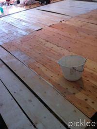 plywood_floor_diy_wide plank white wash1 | DIY | Pinterest ...