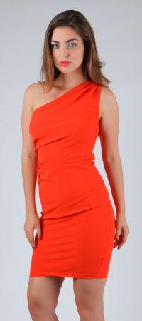 Elegant, classy yet very comfortable peachy red one ...