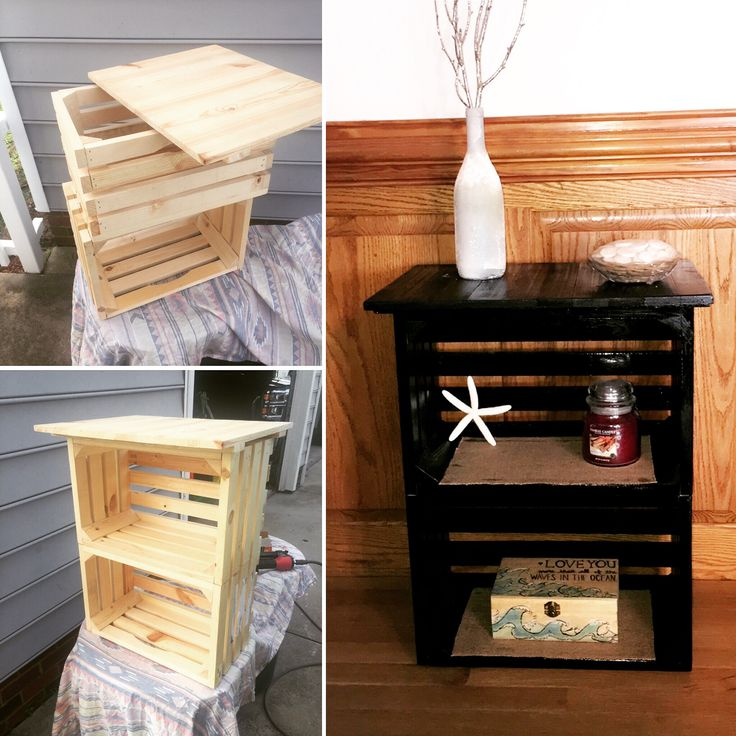 1000+ Ideas About Diy Nightstand On Pinterest   Crate Nightstand