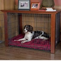 Just found this Dog Crate Furniture - Wood Frame and Metal ...