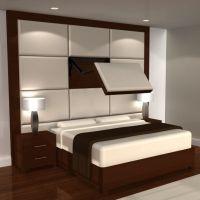 TV Mount Open in Bed Headboard | Home | Pinterest | Wall ...