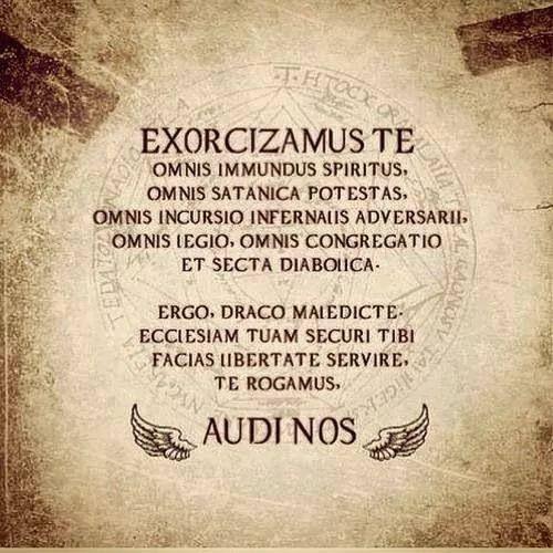 Satanic Iphone Wallpaper Supernatural Exorcism Chant Exorcizamus Te Omnis Immundus