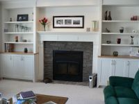 fireplaces with bookshelves on each side | Shelves By ...