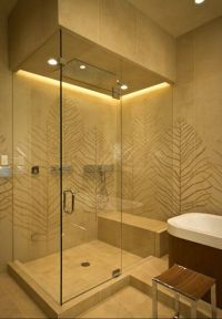 Beautiful shower uses Waterproof Warm White LED Strips as ...