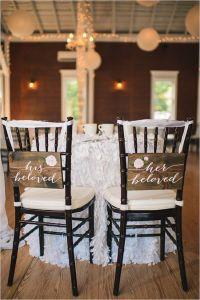 sweetheart table chair signs @weddingchicks | Sweetheart ...