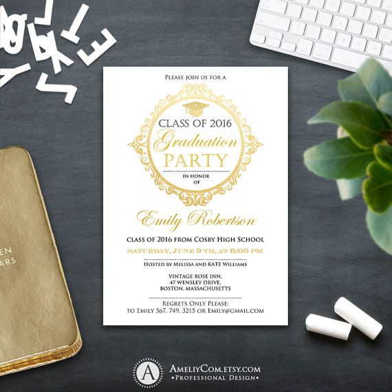 25+ ide terbaik tentang Graduation announcement template di Pinterest - graduation invitation template