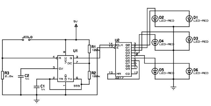 electronic dice circuit digital dice circuit diagram