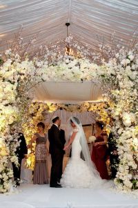 Beautiful white floral chuppah~Butterfly floral & event ...
