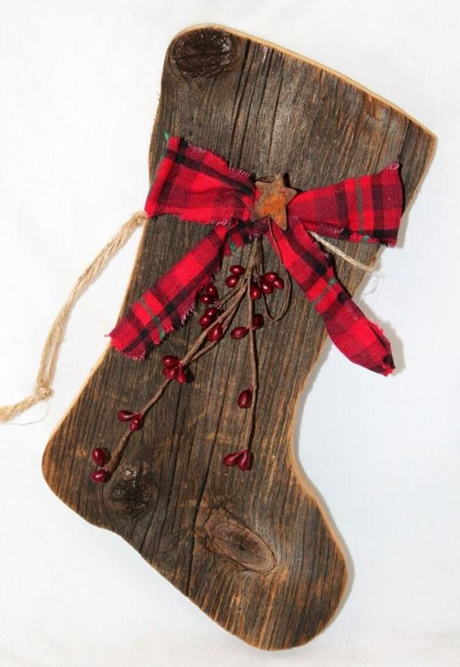 Wood Stocking Christmas Crafts Pinterest Stockings