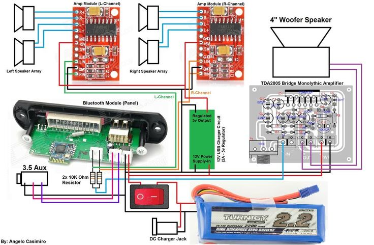 diy boombox wiring diagram