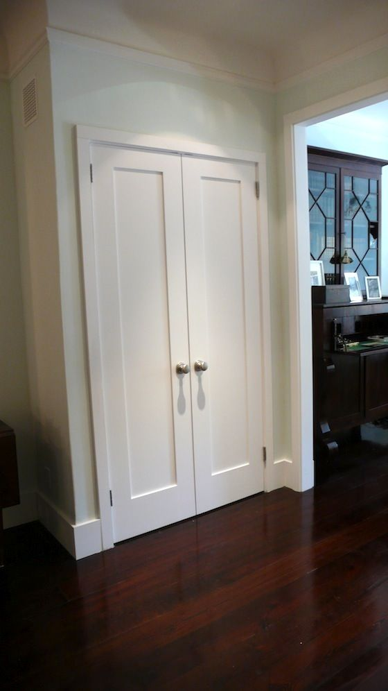 Double Crown Molding French Doors Instead Of Bifold | For The Home | Pinterest
