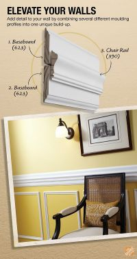 25+ best ideas about Chair Rail Molding on Pinterest | Diy ...