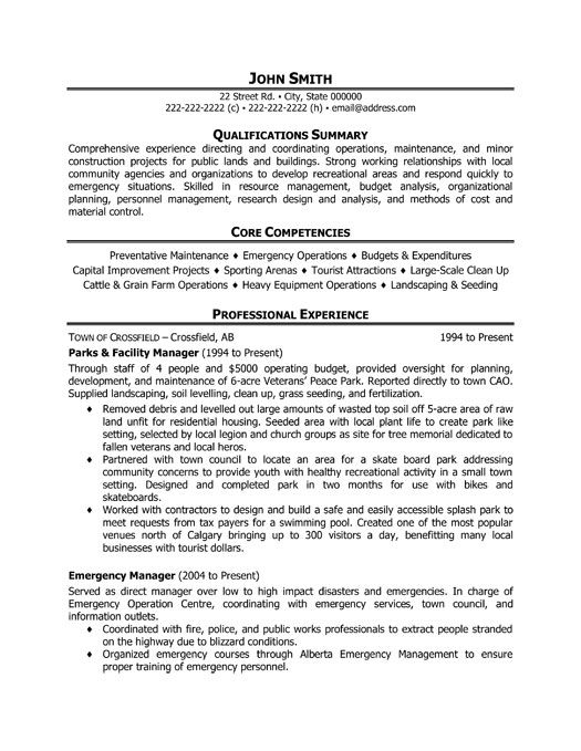 facilities manager job description template ~ Gopitch.co