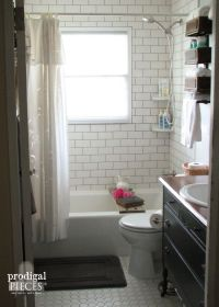 Farmhouse Bathroom Remodel Reveal | Gray, Antique sewing ...