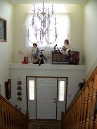 decorating ledge above front door Z | Living room, Library ...