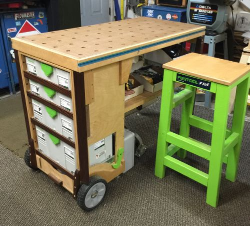 Werkbank Aluprofile Mobile Workbench - Mft Festool Diy | Festool Workbench