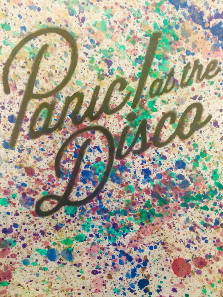 Panic At The Disco Wallpaper Quotes Splatter Panic At The Disco Cover Brendon Urie