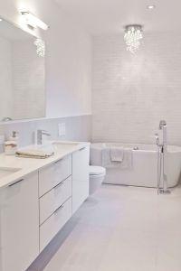 25+ Best Ideas about Modern White Bathroom on Pinterest ...