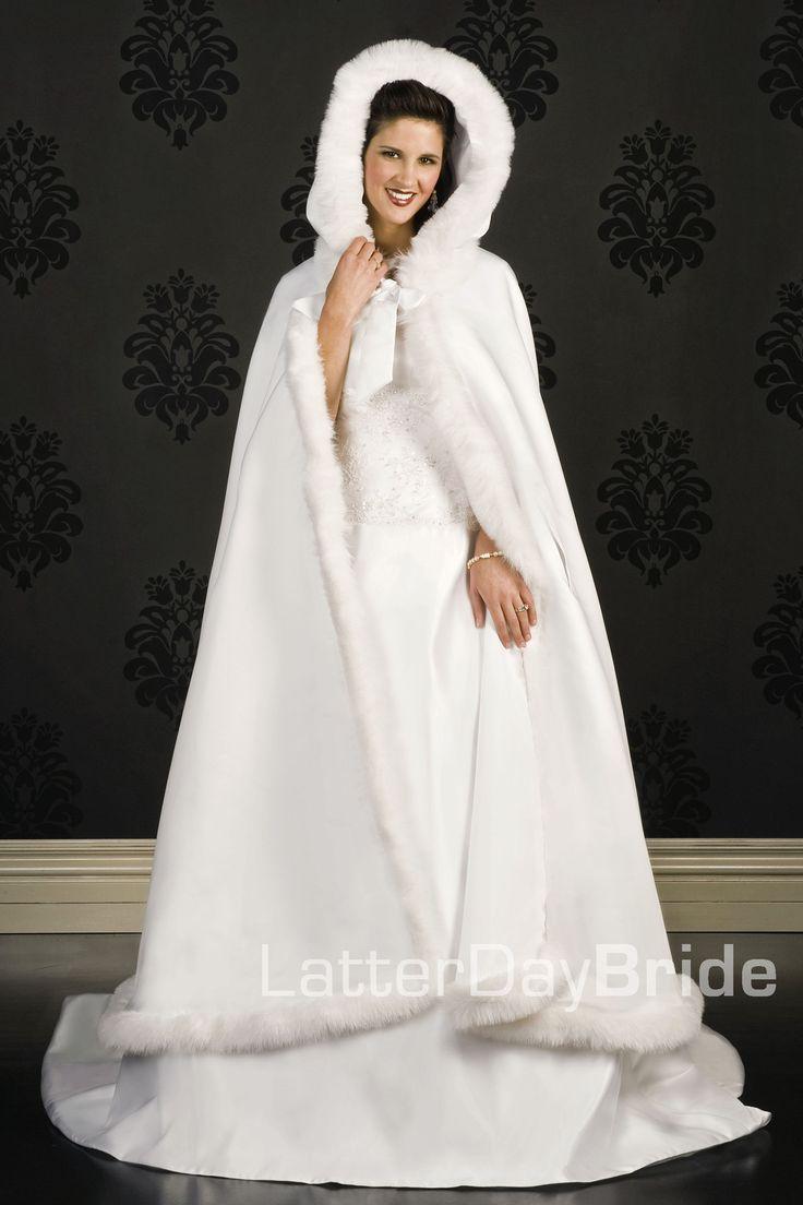 wedding gowns christmas wedding dresses Modest Wedding Dress Winter Cloak