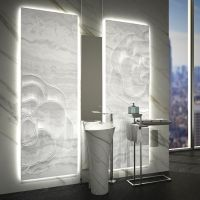 -sculptured backlit white onyx panel | STONE, MARBLE AND ...