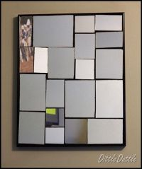 diy Broken Mirror collage wall art | Mirror | Pinterest ...