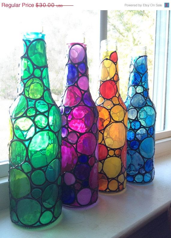 17 Best Ideas About Painting Bottles On Pinterest | Diy Bottle
