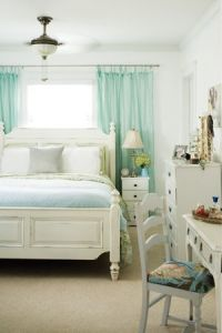 Curtain rods, Guest rooms and Bed against window on Pinterest