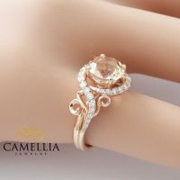 14K Rose Gold Engagement Ring Rose Gold by CamelliaJewelry ...