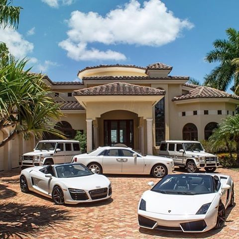 Cars Wallpaper Infront Of Skyline Welcome To The Mansion All White Millionaire Toys
