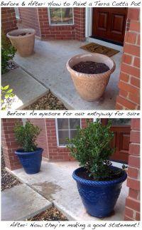 How to paint terracotta pots   out doors   Pinterest ...