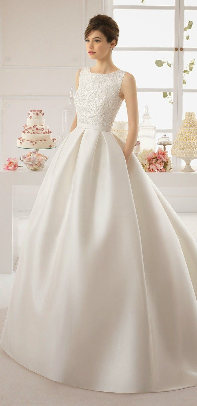 classic wedding dress simple elegant wedding dress Aire Barcelona Bridal Collection