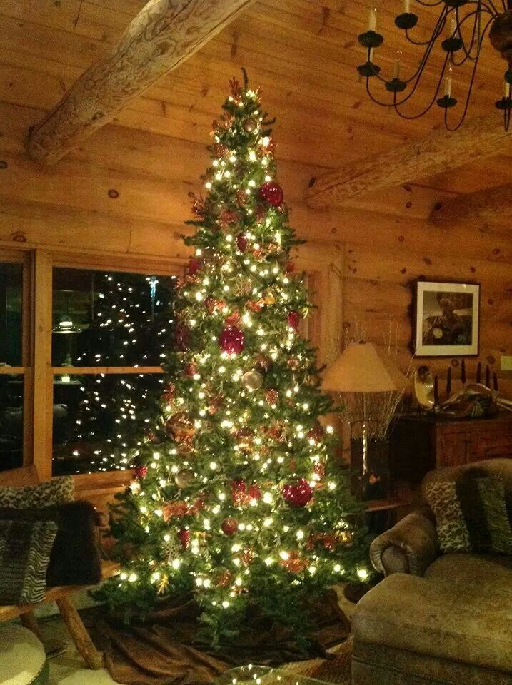 Green Magic Homes Log Home Christmas | Home - Winter | Pinterest | To Be