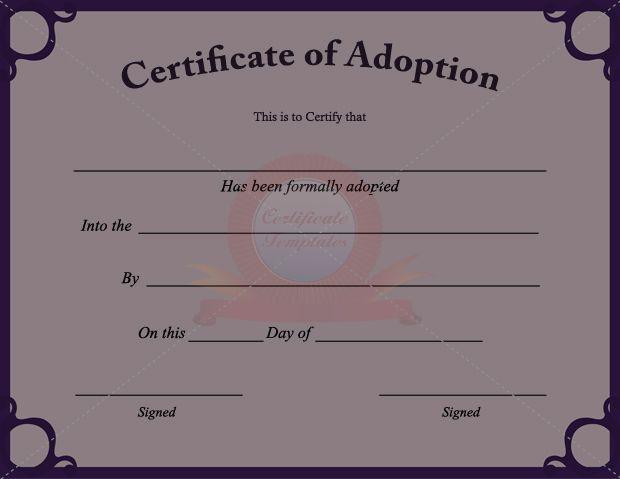 fake adoption papers
