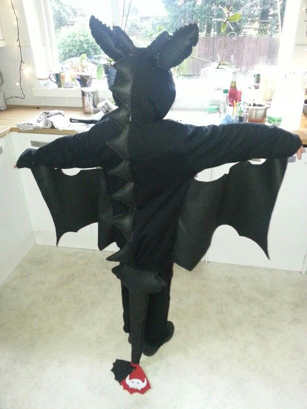 homemade toothless costume