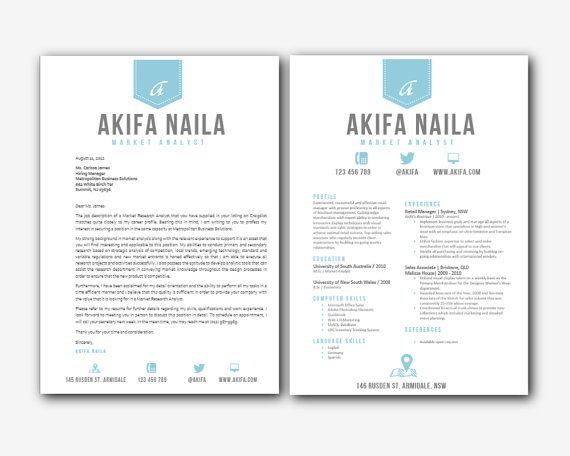 resume templates word etsy