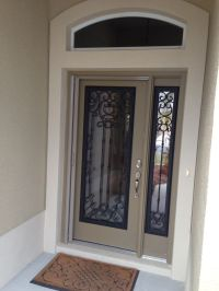 New glass inserts for door and sidelight | Home ...