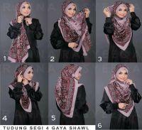 .a way to wrap a large shawl into hijab.... neat large ...