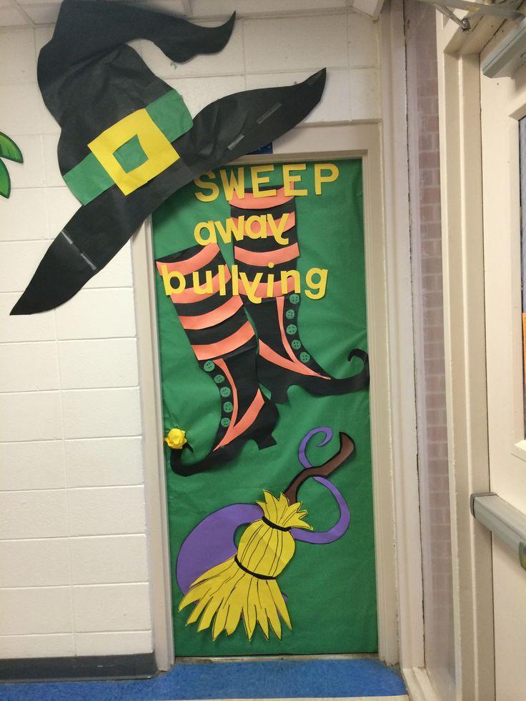 Door decoration halloween anti bully
