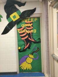 Door decoration halloween anti bully